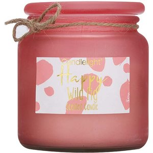 Candlelight Happy Large Frosted Glass Candle 360g 0108810