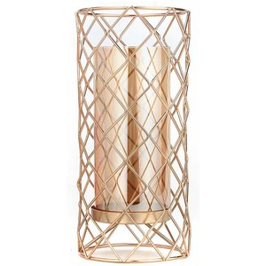 Cello Plaid Metal Candle Holder Large 0103434