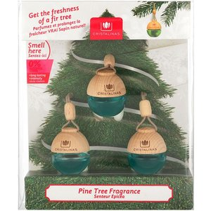Cristalinas Fresh Pine Christmas Tree Scented Baubles 0108311