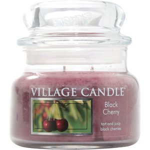 Village Candle Black Cherry Small Jar Candle 0086443