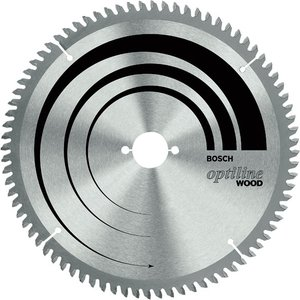 Bosch 2608640437 Mitre Saw Blade Optiline For Wood 254 X 30 X 2.5m...