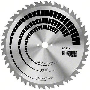 Bosch 2608640761 Table Saw Blade Construct For Wood 600x30x4.0mm 4...