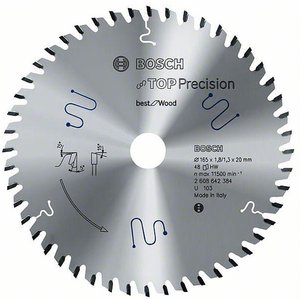 Bosch 2608642384 Circular Saw Blade Tct Precision Wood 165x20x1.8m...