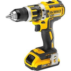 Dewalt Dcd795d2 Compact Brushless Hammer Drill Driver 18 Volt 2 X ... Dcd795d2 Gb