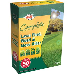 Doff F-lm-050-dof-03 Complete Lawn Feed, Weed & Moss Killer 1.6kg