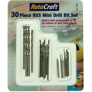 Rotacraft Rc9003 30pc Hss Mini Drill Bit Set