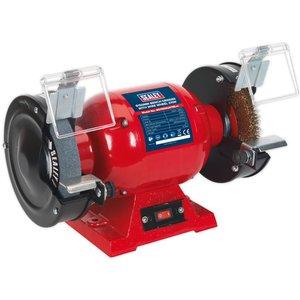 Sealey Bg150xlw/98 Bench Grinder 150mm With Wire Wheel 370w/230v Bg150xlw 98