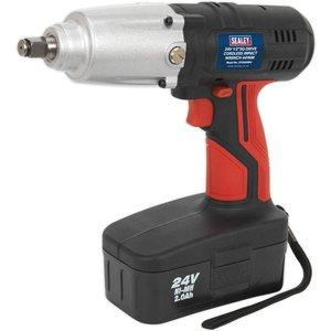 Sealey Cp2400mh Cordless Impact Wrench 24v 2ah Ni-mh 1/2sq Drive ...