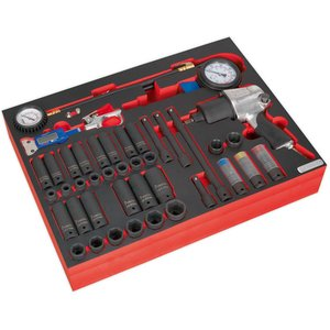 Sealey Tbtp08 Tool Tray With Impact Wrench, Sockets & Tyre Tool Se...