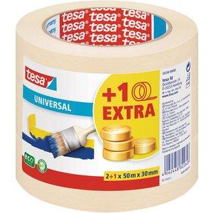 Tesa® 55338 Universal Masking Tape Beige 30mm X 50m Pack Of 3 55338 00000 06