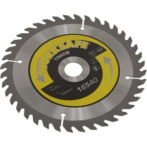 Worksafe Ts16540 Trade Circular Saw Blade Ø165 X 20mm - 40tpu