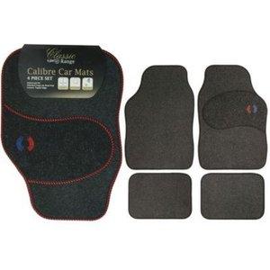 4pc Calibra Car Mat Set With Red Trim Car Accessories