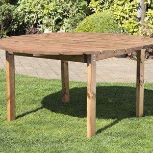 6 Seat Round Scandinavian Redwood Garden Table