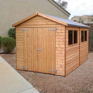 Albany Sheds Major Apex 12' X 10' Apex Shiplap Wood Garden Shed Sheds & Garden Furniture