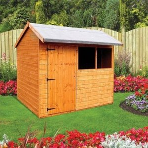 Albany Sheds Pytchley 8' X 6' Apex Shiplap Wood Garden Shed Sheds & Garden Furniture