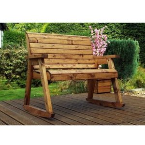 Charles Taylor Garden Chair Rocker With Burgundy Cushion Chairs