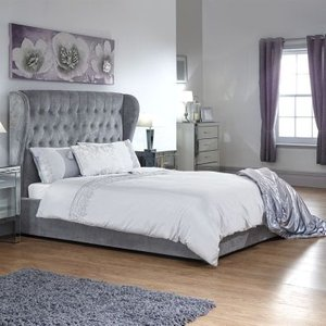 Dakota Double Ottoman Bed Grey Beds