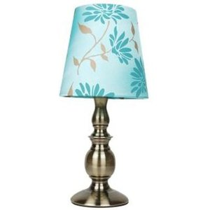 Floral Table Lamp - Duck Egg Blue Home Accessories