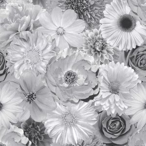 Foil In Bloom Mono Wallpaper Painting & Decorating
