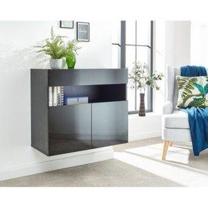 Galicia 3 Door Sideboard Black Furniture