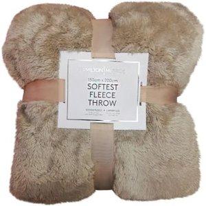 Hamilton Mcbride 150x200 Bear Fleece Throw Beige Gifts
