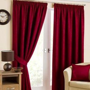 Hamilton Mcbride Fusion Black Out Curtains (45 X 54) - Cranberry Home Accessories