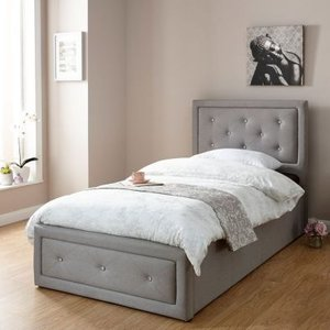 Hollywood Single Ottoman Bed Grey Home Accessories