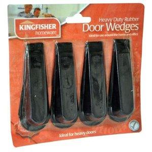 Kingfisher Rubber Door Stop Wedges (4 Pack) General Household