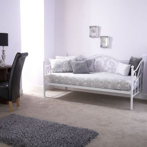 Madison Single Day Bed White Metal Home Accessories