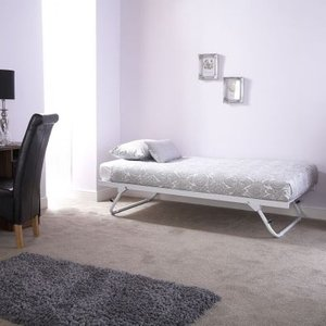 Madison Single Trundle Bed White Metal Home Accessories