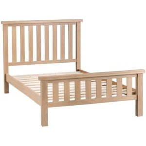 Oak Double Bed Frame Natural Lime-washed Oak With Dovetailed Joints Furniture