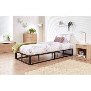 Platform Single Bed Frame Black Beds