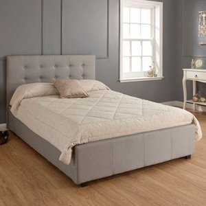 Regal Double Ottoman Bed Grey Home Accessories