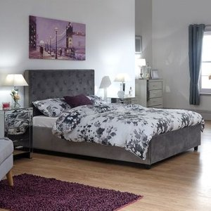 Utah King Size Ottoman Bed Grey Beds