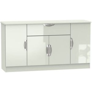 Weybourne Sideboard Cream 4 Door 1 Drawer Furniture