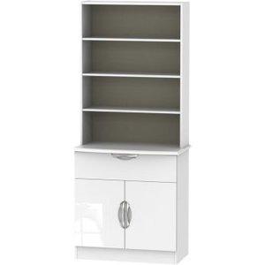 Weybourne Sideboard White 2 Door 4 Shelf 1 Drawer Furniture