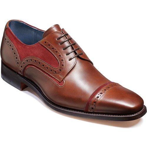Barker Haig - Walnut Calf/burgundy Suede - G - Wide - 6 Mens Footwear