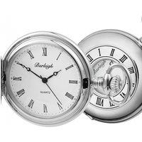 Woodford Burleigh Quartz Pocket Watch With Albert White Chr 1233, White