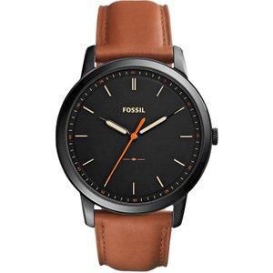 Fossil Minimalist Watch Fs5305 Black / Tan, Black / Tan