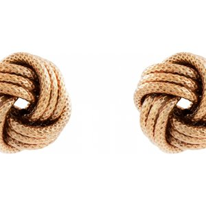 Jewellery Essentials Rose Gold Plated Frost Love Knot Earrings Jewel Aj-37233182