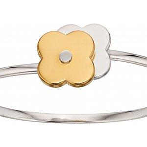 Orla Kiely Jewellery Ladies Orla Kiely Sterling Silver Shadow Flower Bangle B4992