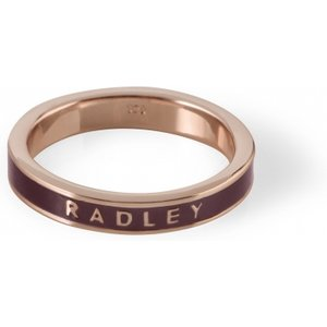 Radley Jewellery Ladies Radley Rose Gold Plated Sterling Silver Hatton Row Ring Size M Ryj4006-m