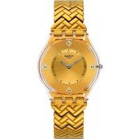 Ladies Swatch Golden Street Watch Sfe106g Gold / Gold, Gold / Gold
