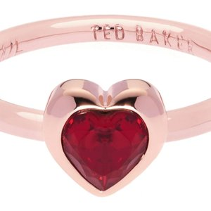 Ted Baker Jewellery Ladies Ted Baker Rose Gold Plated Crystal Heart Ring Size Ml Tbj1683-24-22ml