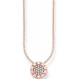 Thomas Sabo Jewellery Ladies Thomas Sabo Sterling Silver Glam & Soul Classic Pave Necklace Ke1493-416-14-l45v