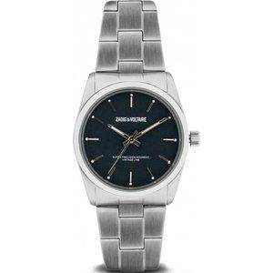 Ladies Zadig & Voltaire Fusion Watch Zvf226 Black / Silver, Black / Silver