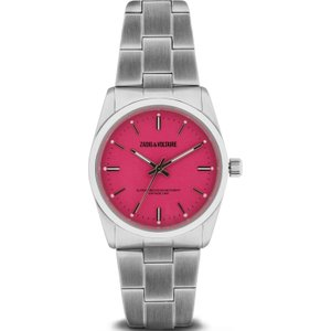 Ladies Zadig & Voltaire Fusion Watch Zvf227 Red / Silver, Red / Silver