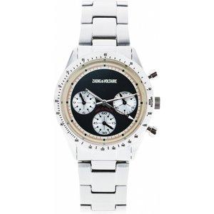Ladies Zadig & Voltaire Master Chronograph Watch Zvm101 Black / Silver, Black / Silver
