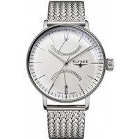 Mens Elysee Sithon Gmt Watch 13270m White / Silver, White / Silver