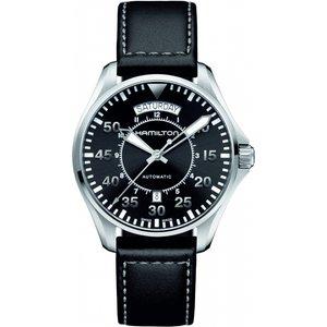 Mens Hamilton Khaki Pilot Day-date Automatic Watch H64615735 Black / Black, Black / Black